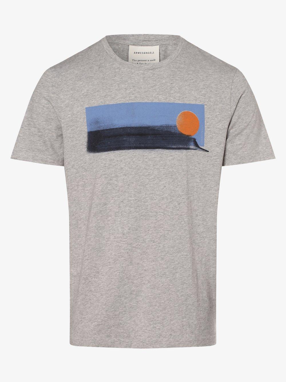 ARMEDANGELS - T-shirt męski – Jaames, szary
