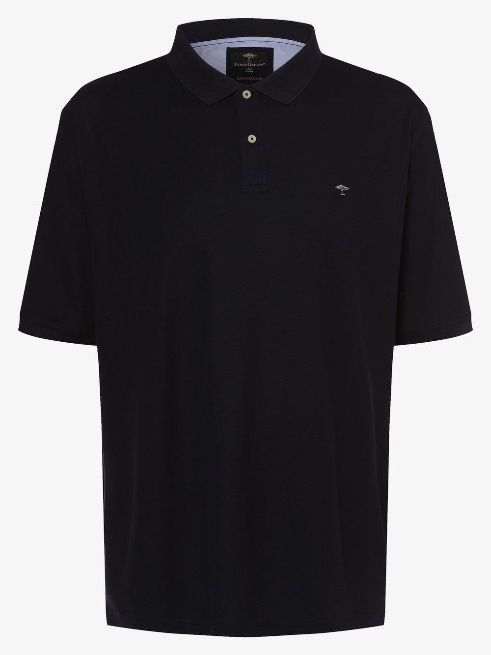 Fynch-Hatton – Męska koszulka polo, niebieski Van Graaf 471419-0005