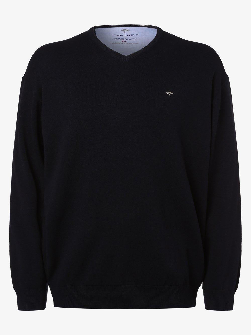 Fynch-Hatton – Sweter męski, niebieski Van Graaf 471421-0002
