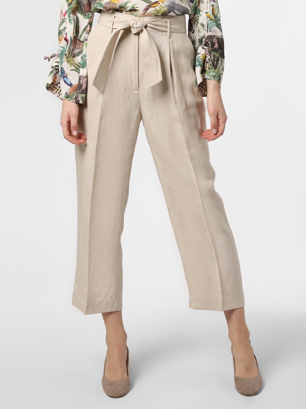 IPURI - Spodnie damskie z dodatkiem lnu, beżowy