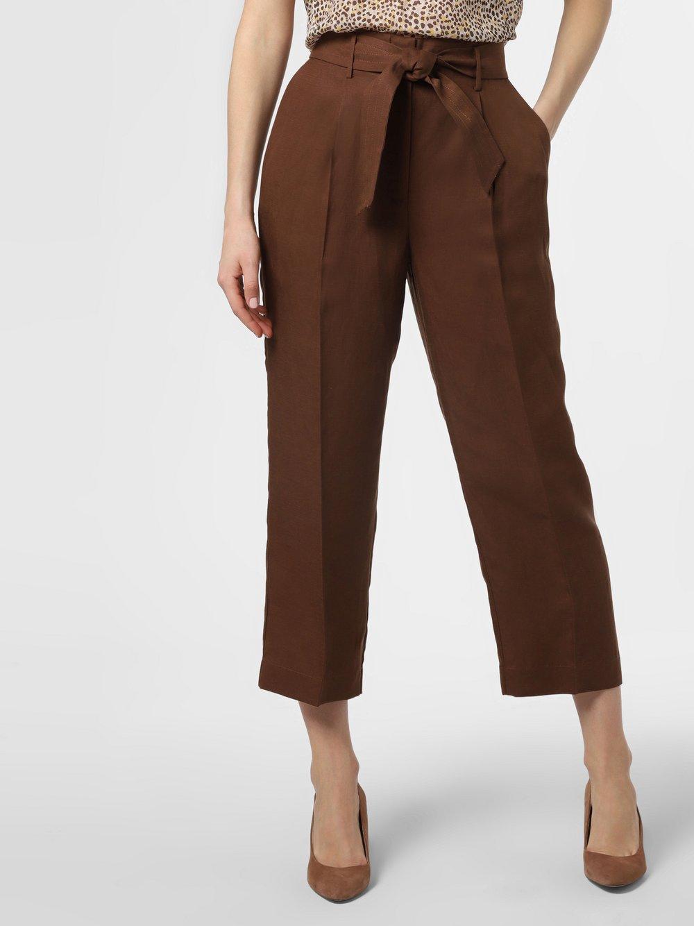 IPURI - Spodnie damskie z dodatkiem lnu, brązowy