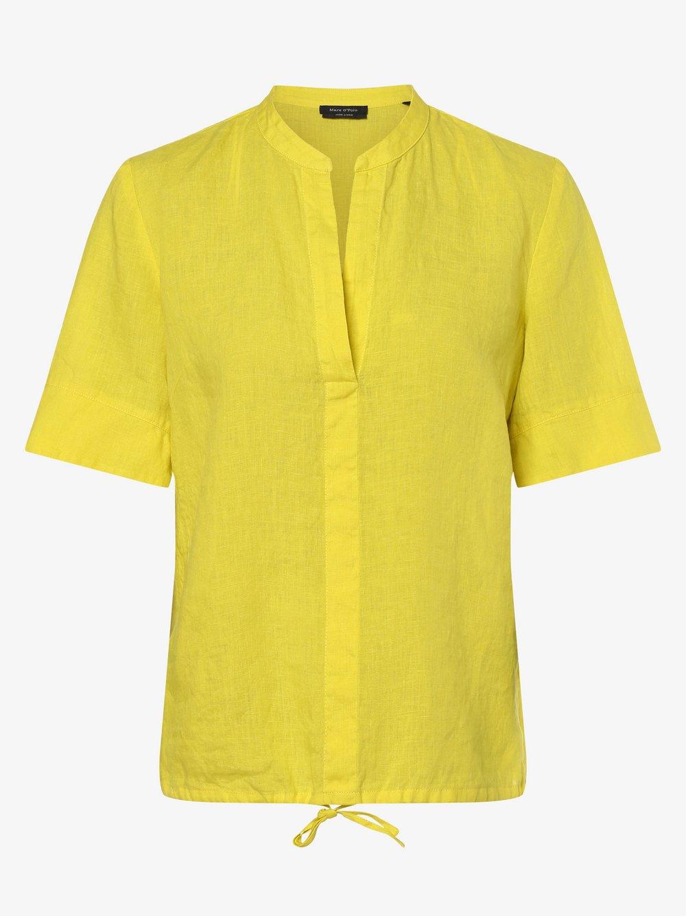 Marc O'Polo - Damska bluzka lniana, zielony