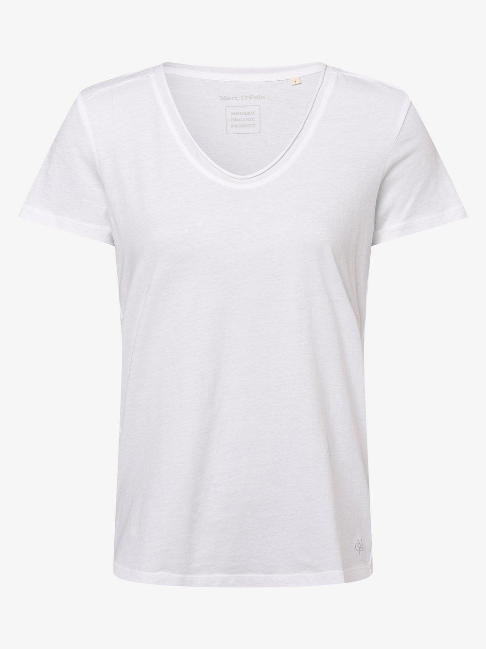 Marc O'Polo - T-shirt damski, biały