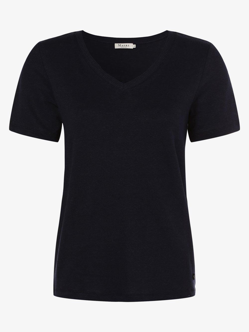 März – Damska bluzka lniana, niebieski Van Graaf 471662-0002-00400