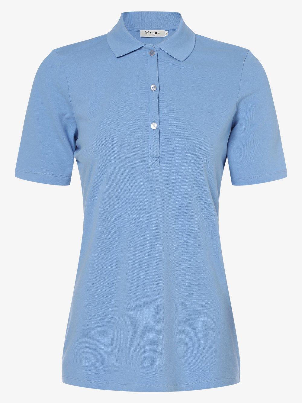März – Damska koszulka polo, niebieski Van Graaf 471672-0002-00360