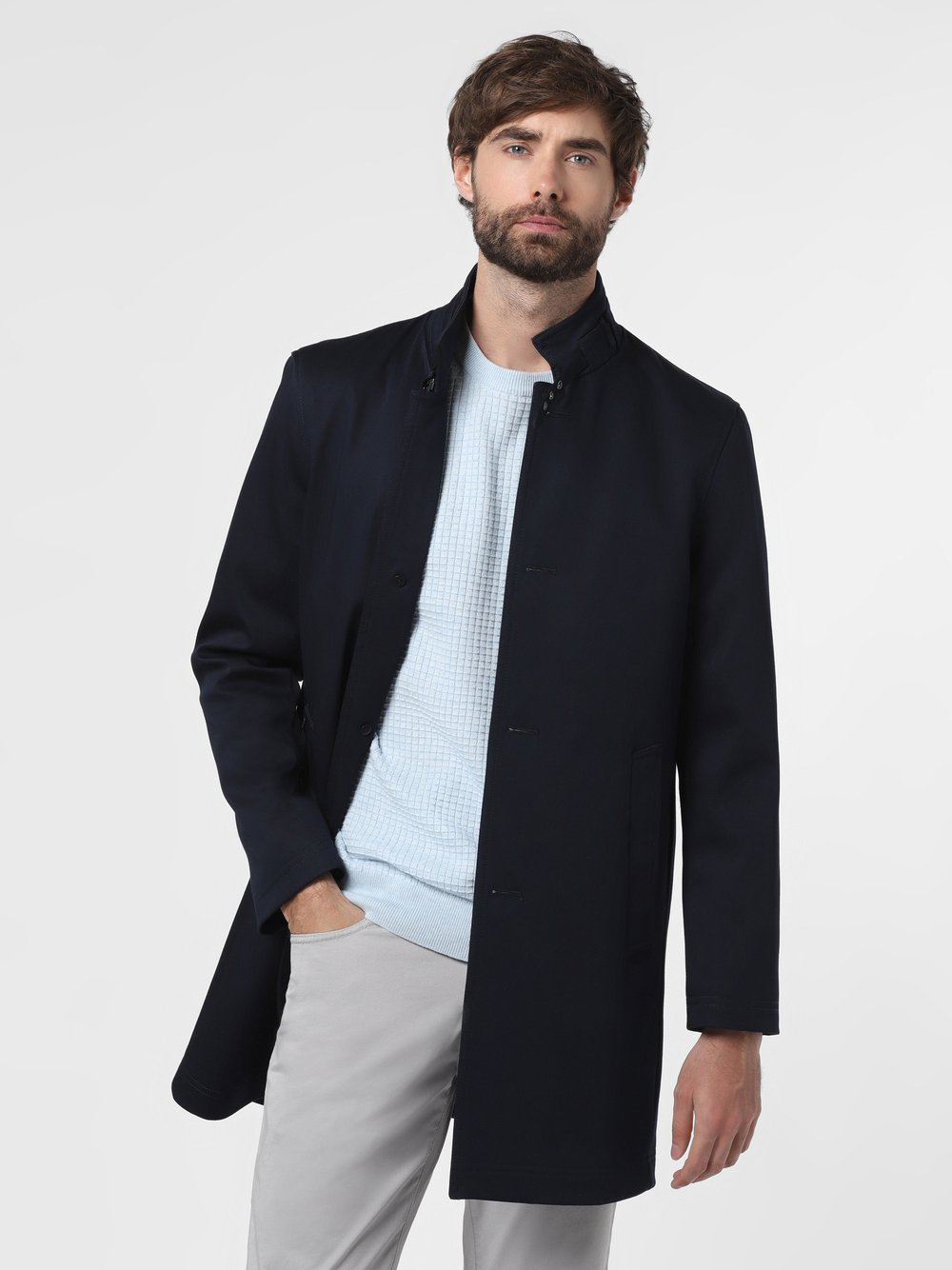 Finshley & Harding - Płaszcz męski – Jooper-2, niebieski