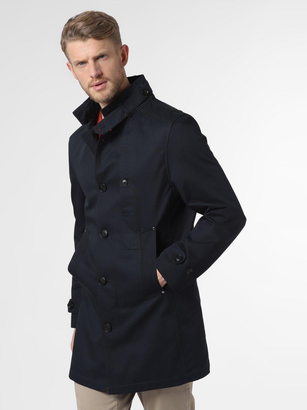 Finshley & Harding - Płaszcz męski – Niklas-2, niebieski
