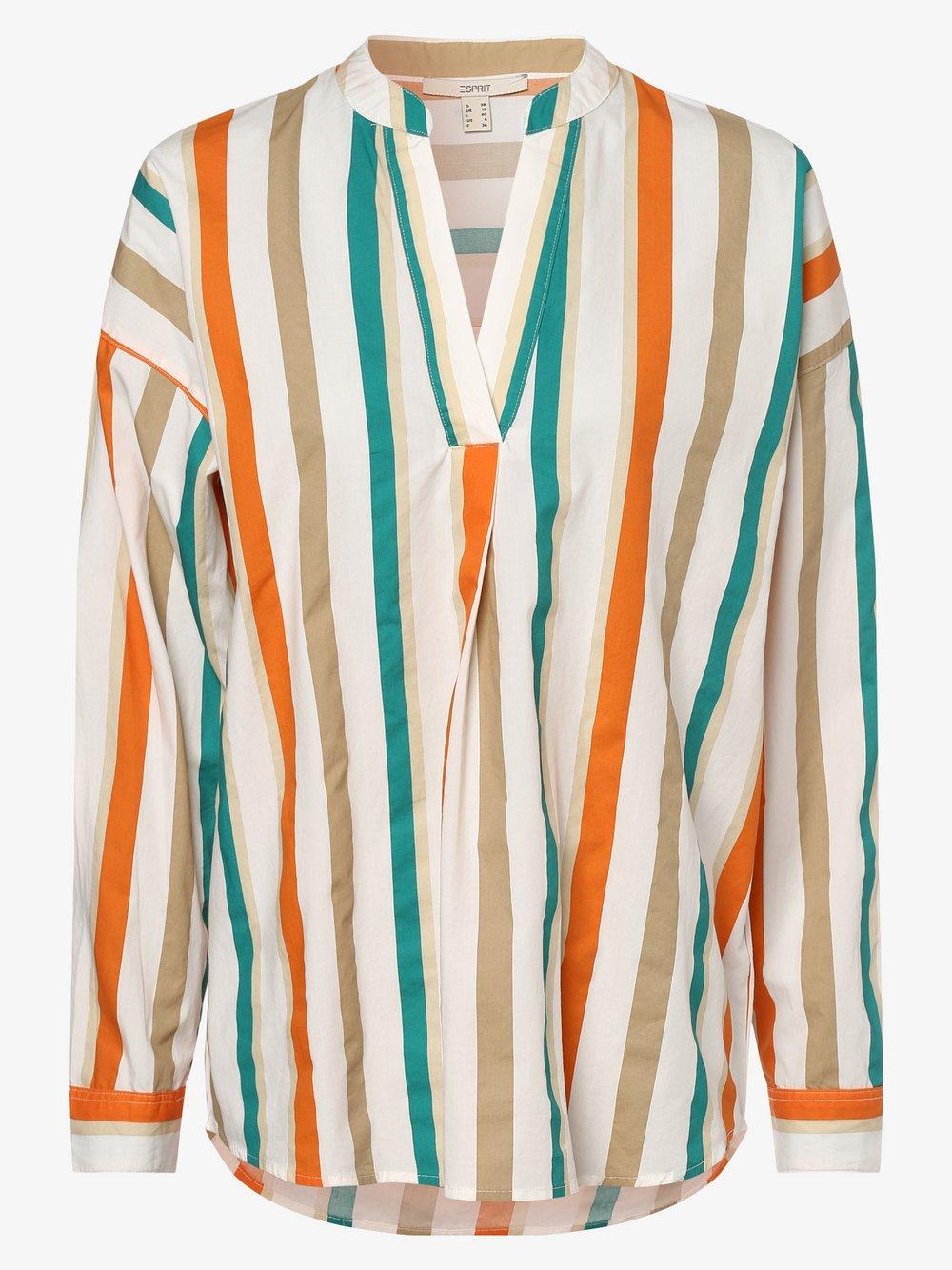 Esprit Casual – Bluzka damska, beżowy Van Graaf 472076-0001