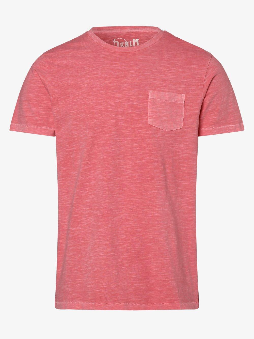 DENIM by Nils Sundström – T-shirt męski, różowy Van Graaf 472196-0009-09995