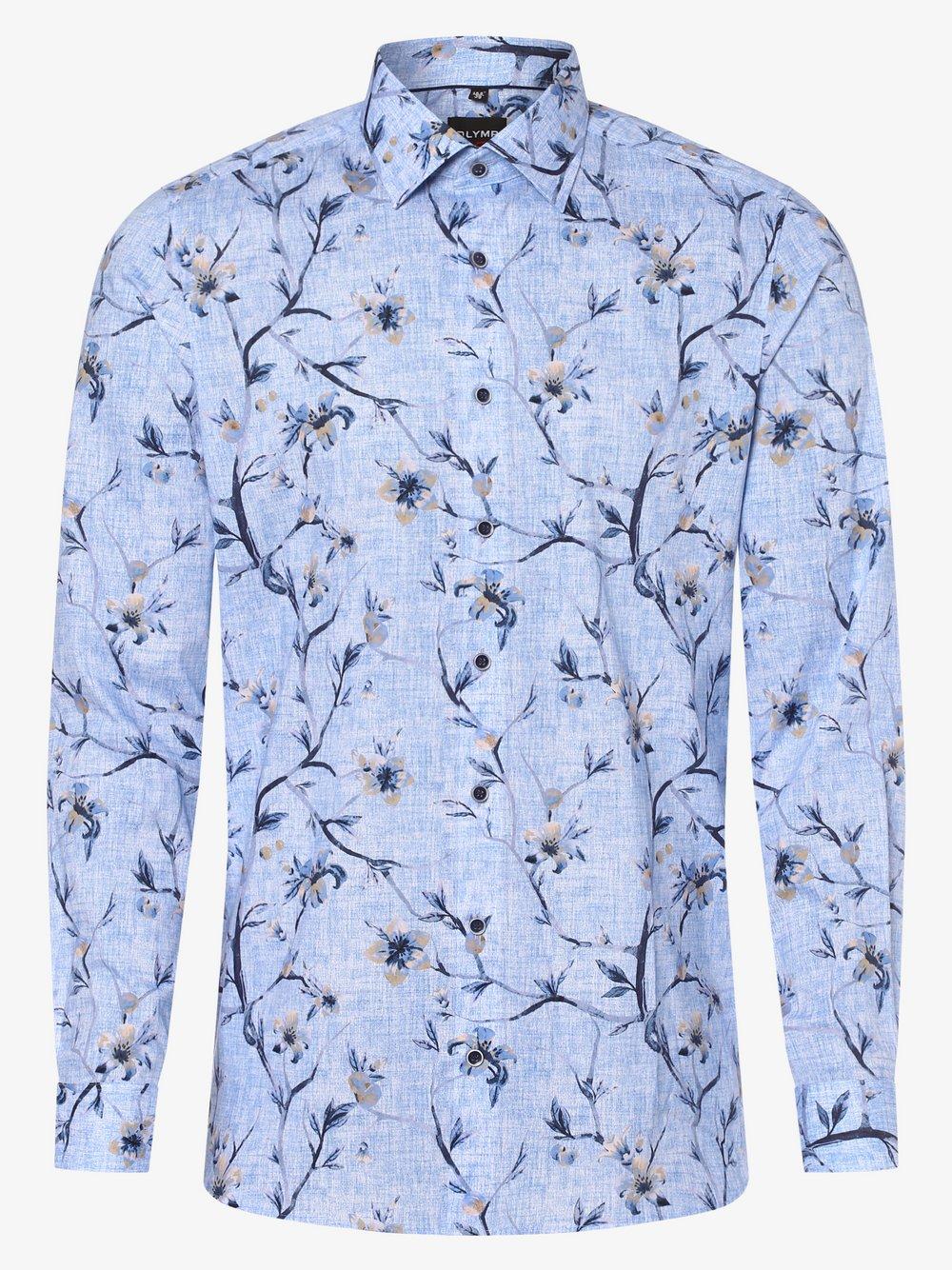 Olymp Level Five – Koszula męska, niebieski Van Graaf 472366-0001-00420