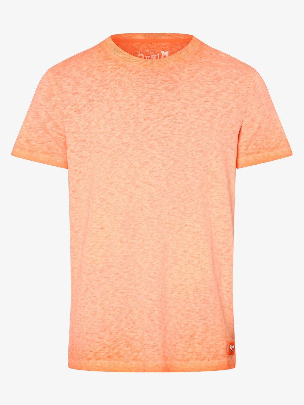 DENIM by Nils Sundström – T-shirt męski, pomarańczowy Van Graaf 472393-0006-09970