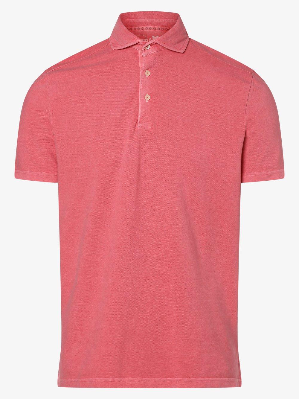 DENIM by Nils Sundström – Męska koszulka polo, różowy Van Graaf 472398-0008-09900