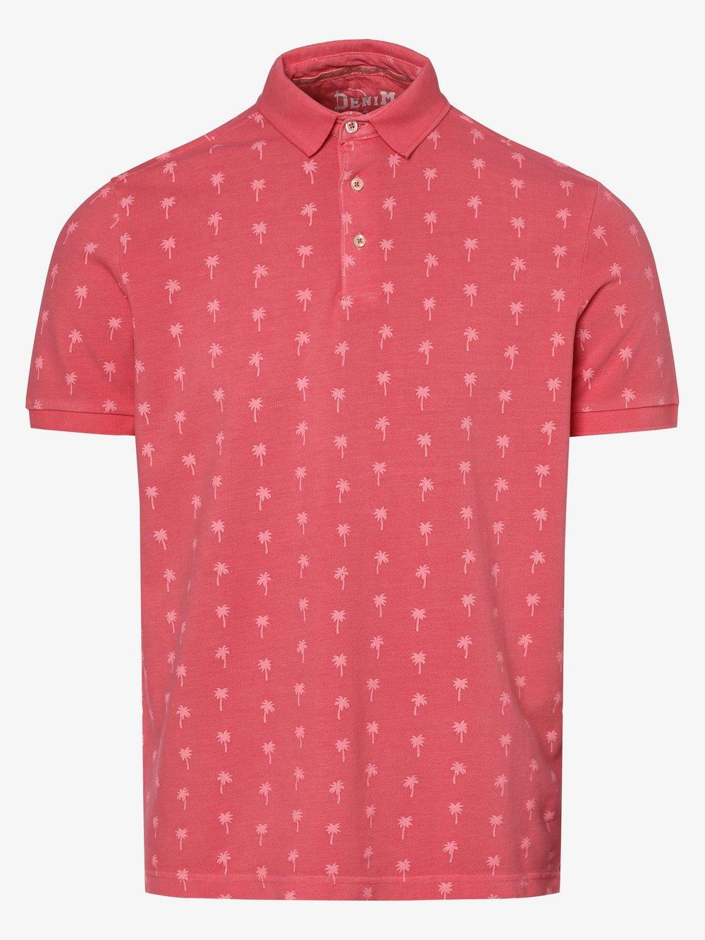 DENIM by Nils Sundström – Męska koszulka polo, różowy Van Graaf 472399-0002
