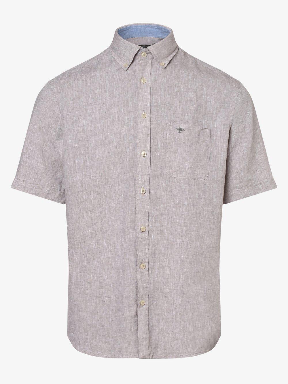 Fynch-Hatton – Męska koszula lniana, beżowy Van Graaf 472587-0005-09920