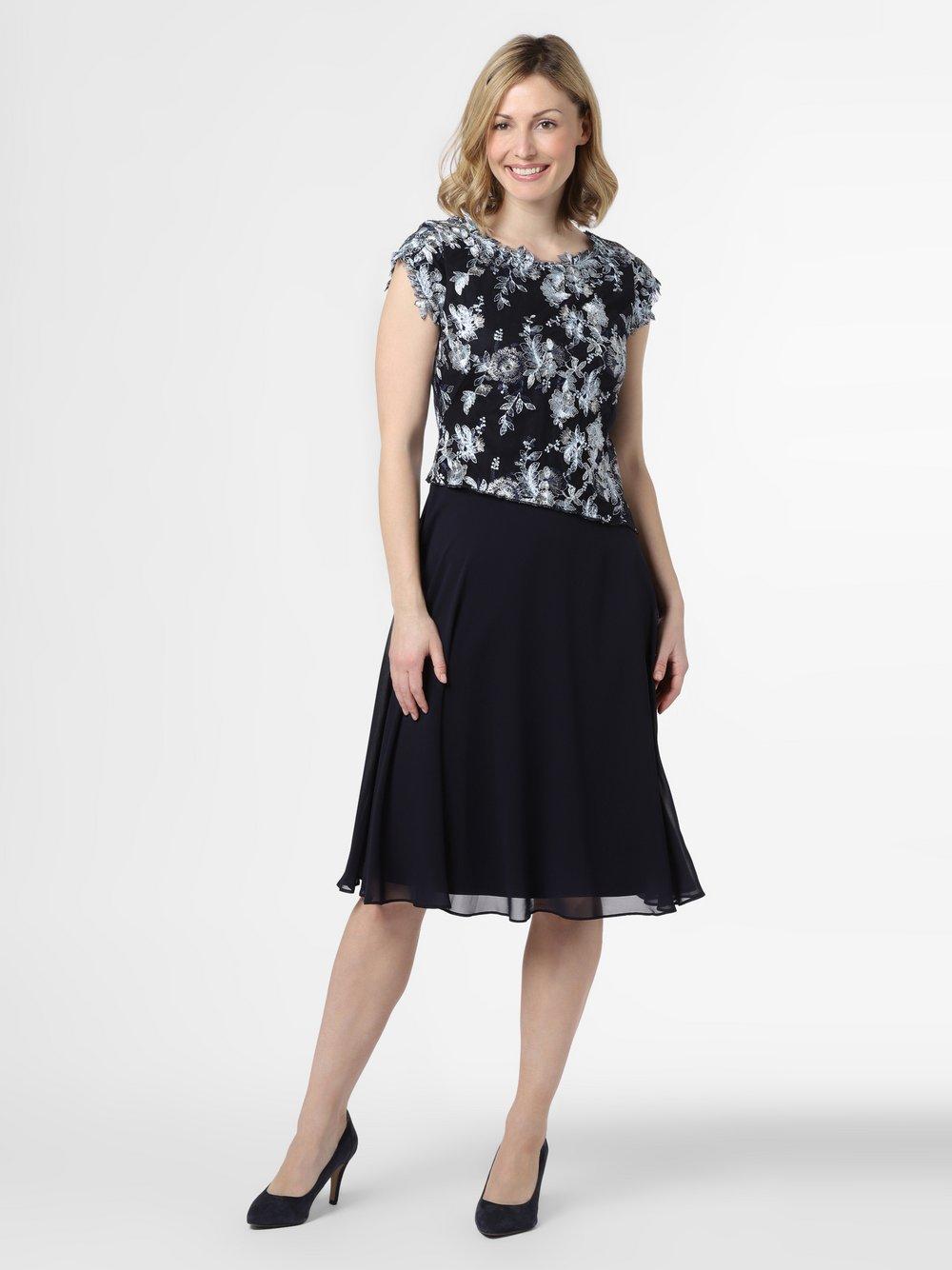 Ambiance – Damska sukienka wieczorowa, niebieski Van Graaf 472619-0001-00440