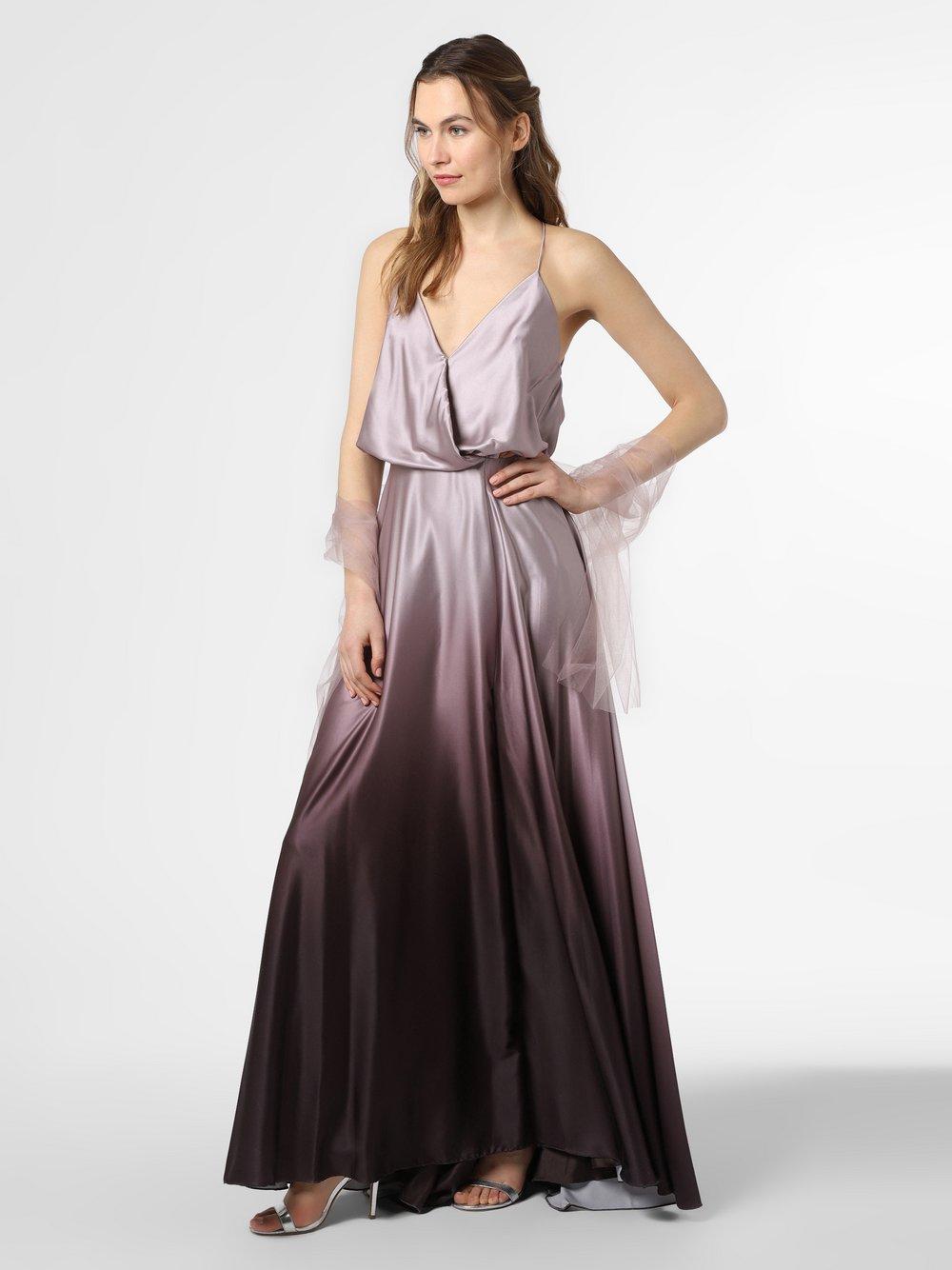 Unique – Damska sukienka wieczorowa z etolą, brązowy Van Graaf 472690-0001