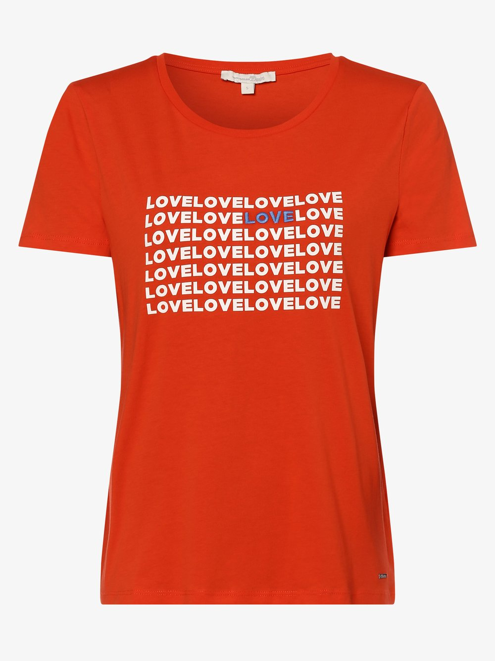 Tom Tailor Denim - T-shirt damski, czerwony Tom Tailor Denim