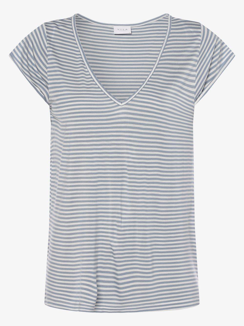 Vila - T-shirt damski – Viscoop, niebieski