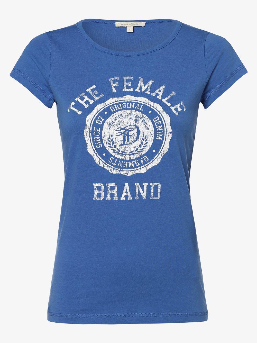 Tom Tailor Denim - T-shirt damski, niebieski