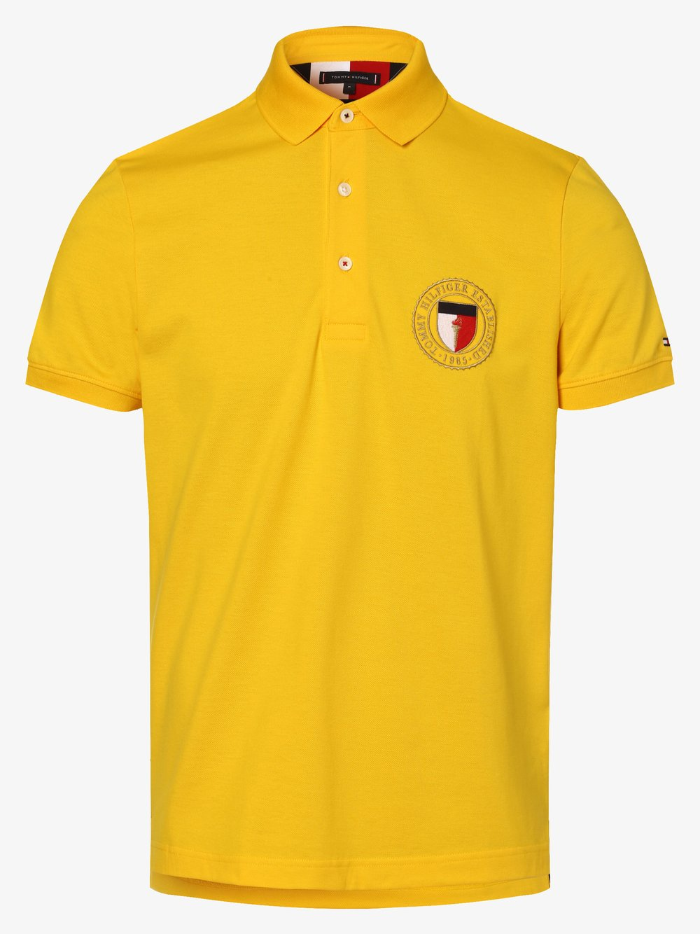 Tommy Hilfiger - Męska koszulka polo, żółty
