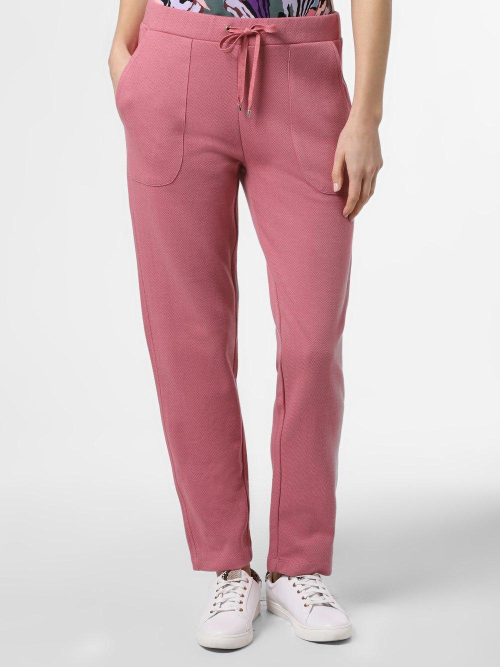 Franco Callegari - Damskie spodnie dresowe z dodatkiem lnu, różowy