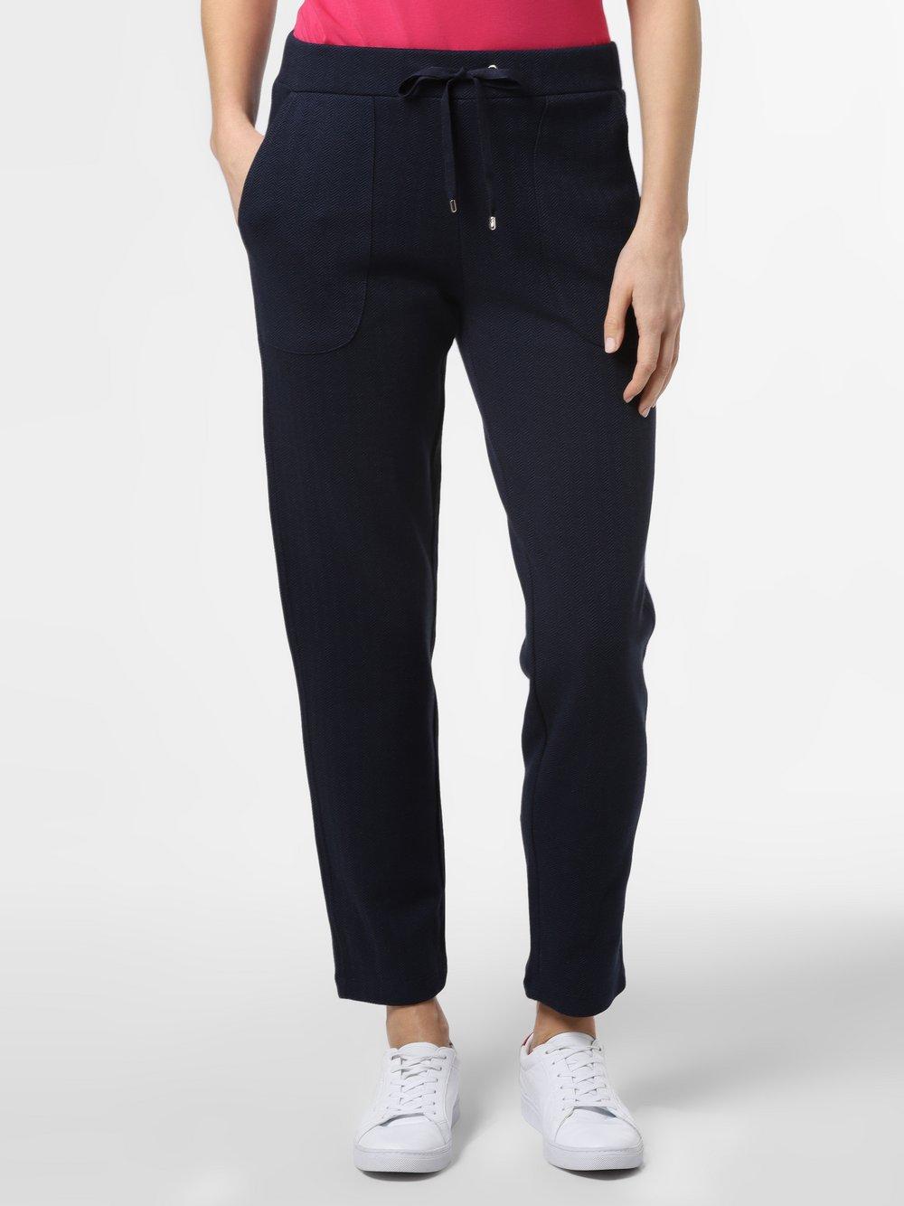 Franco Callegari - Damskie spodnie dresowe z dodatkiem lnu, niebieski