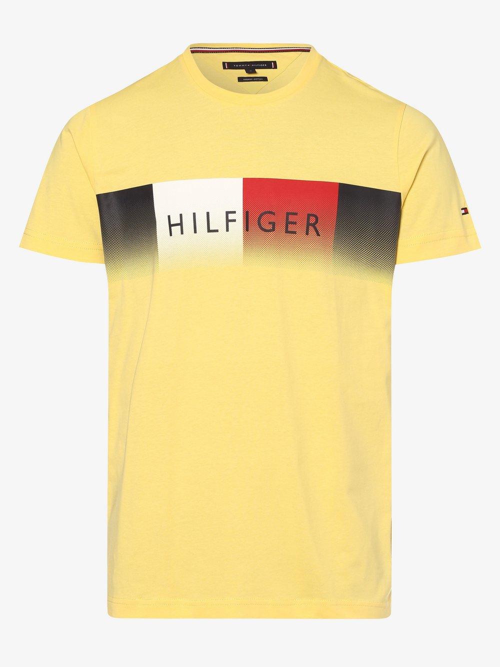 Tommy Hilfiger - T-shirt męski, żółty