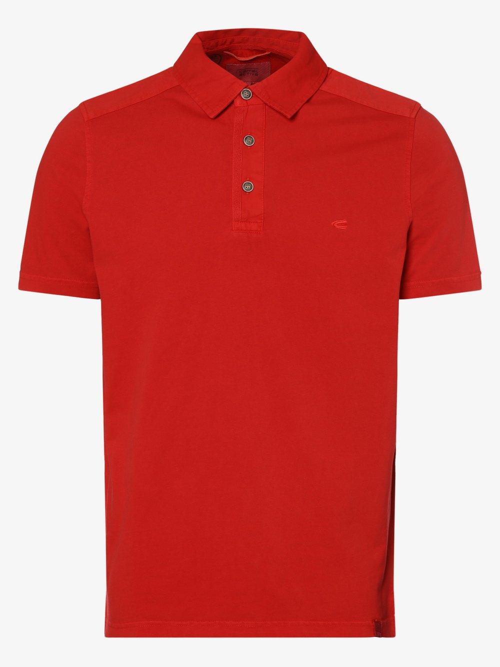 Camel Active – Męska koszulka polo, czerwony Van Graaf 473153-0002