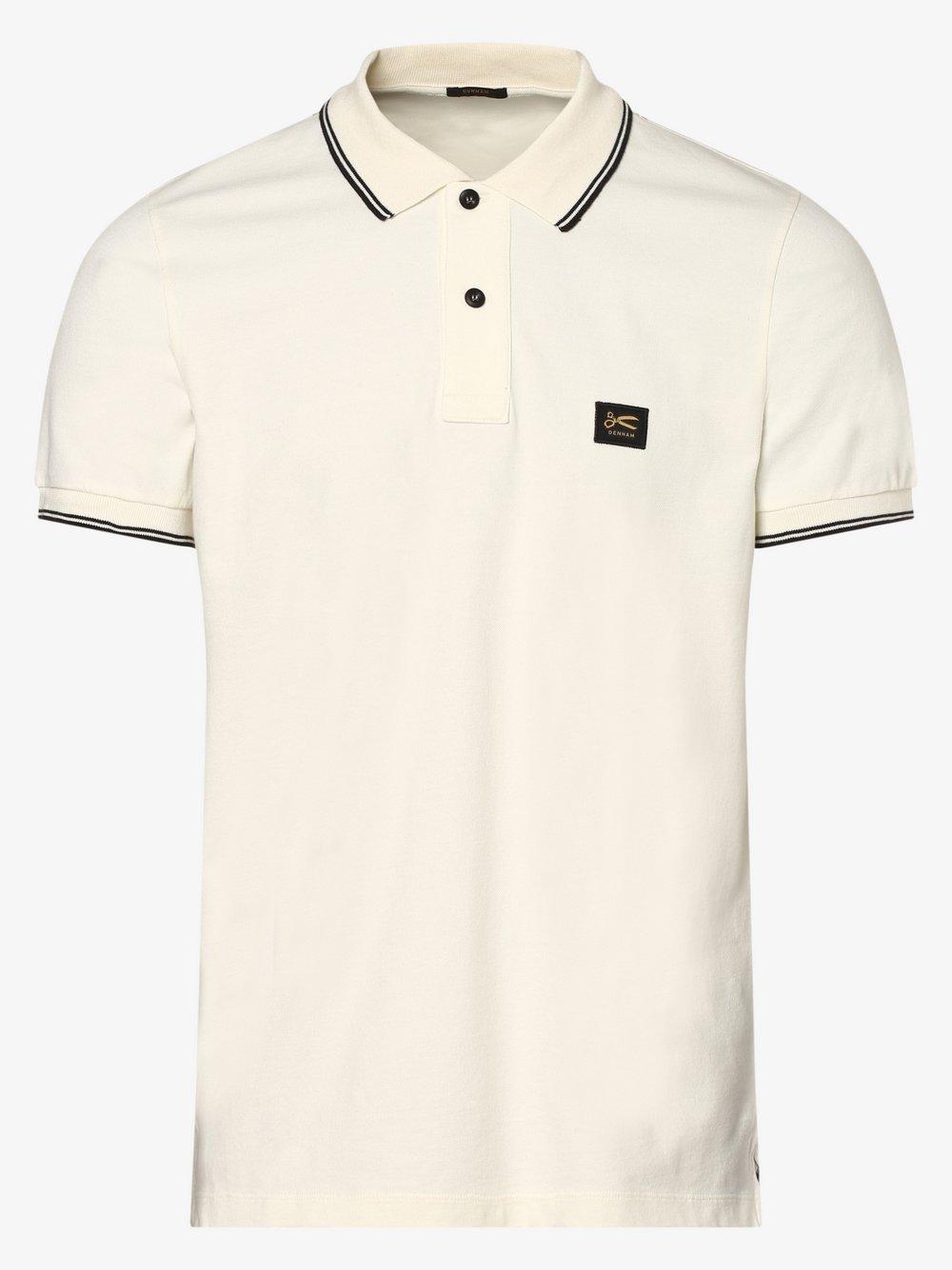 DENHAM – Męska koszulka polo, biały Van Graaf 473187-0001-09990