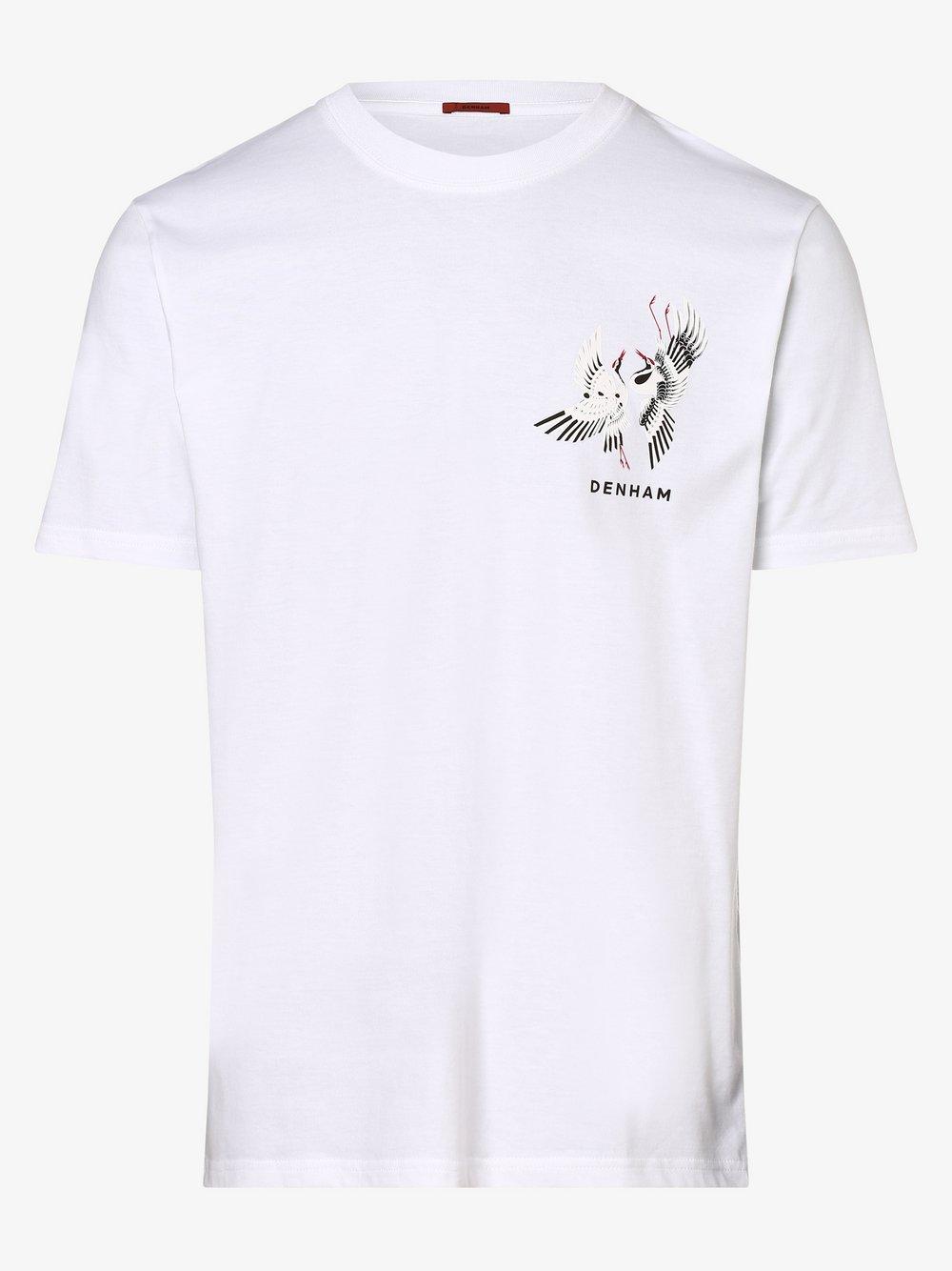 DENHAM – T-shirt męski, biały Van Graaf 473190-0001-09970