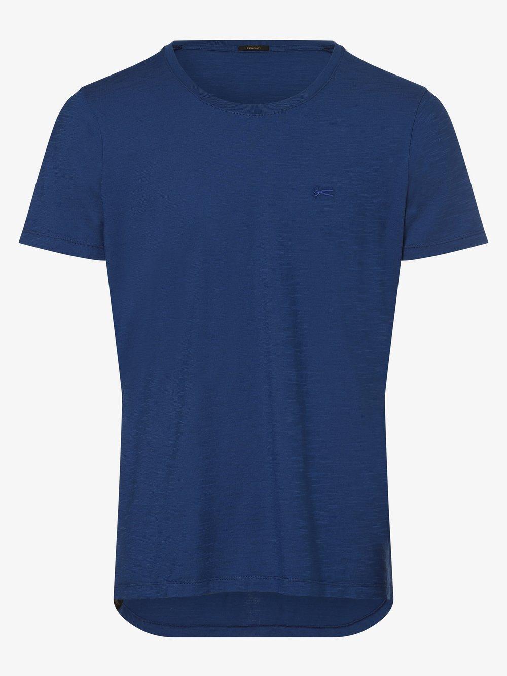 DENHAM – T-shirt męski, niebieski Van Graaf 473192-0001-09940