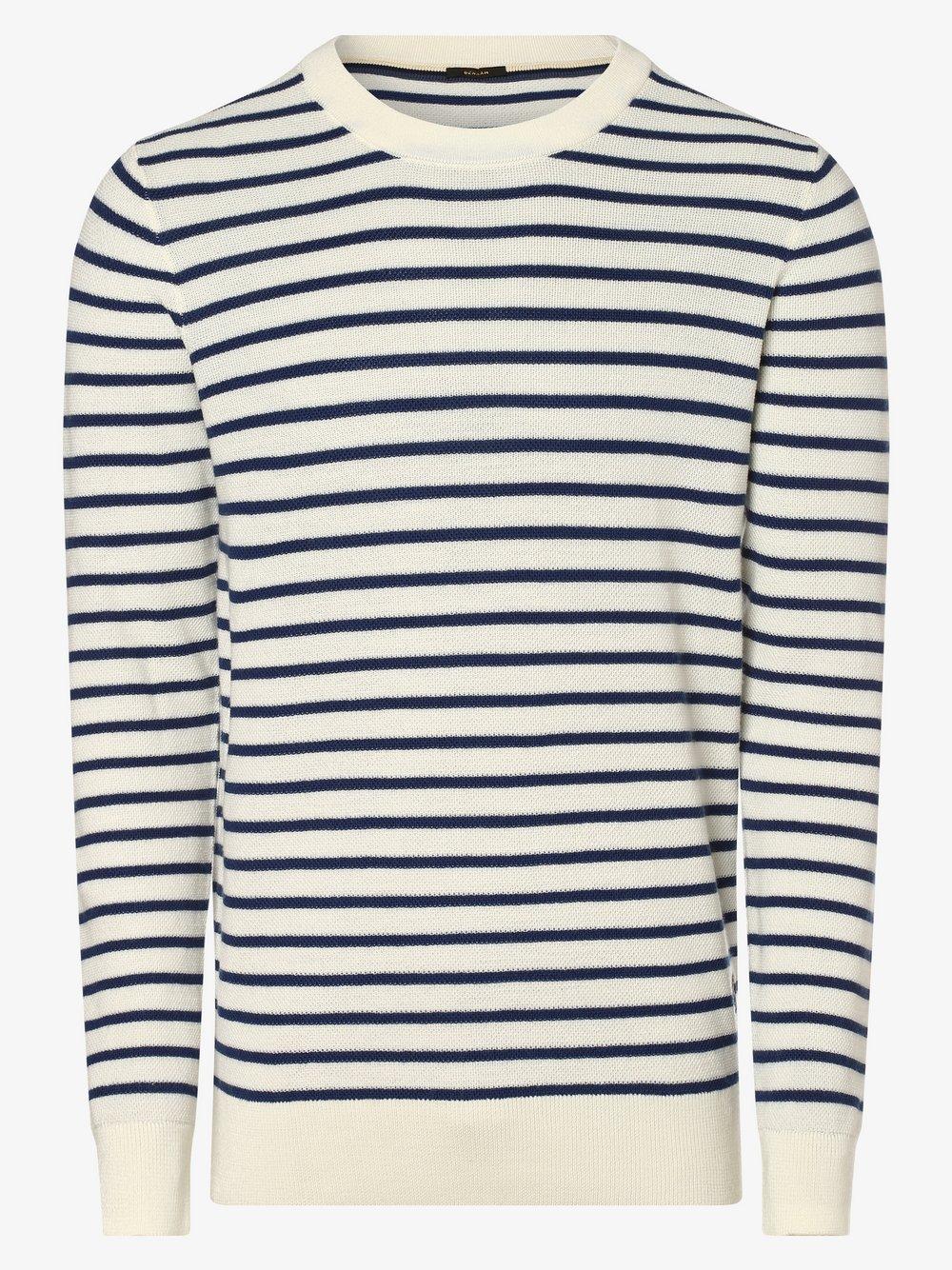 DENHAM – Sweter męski, niebieski Van Graaf 473199-0001-09900