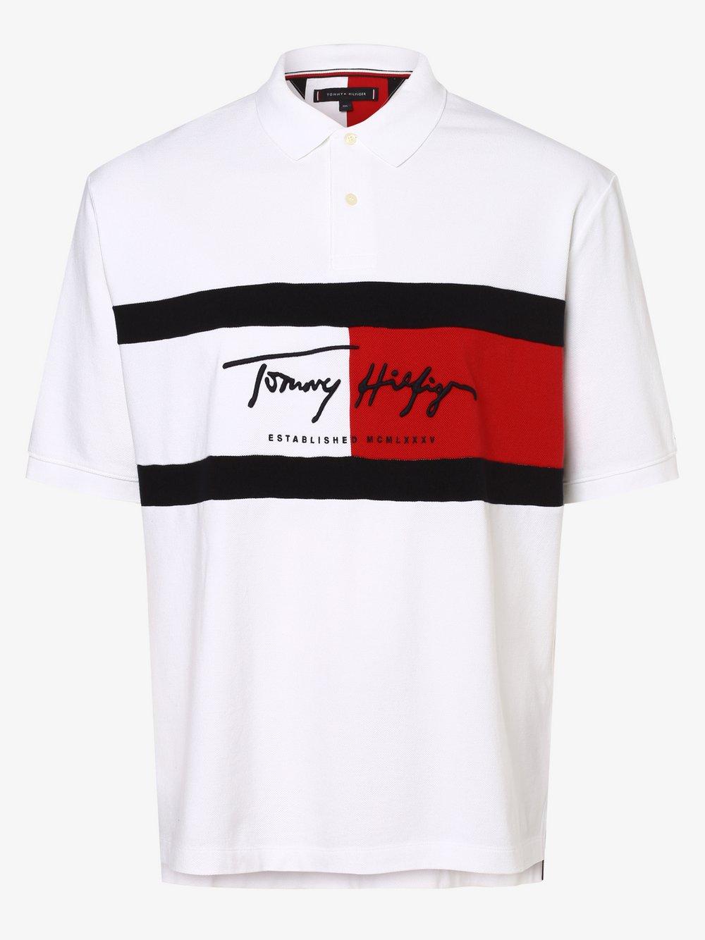 Tommy Hilfiger - Męska koszulka polo – Big & Tall, biały