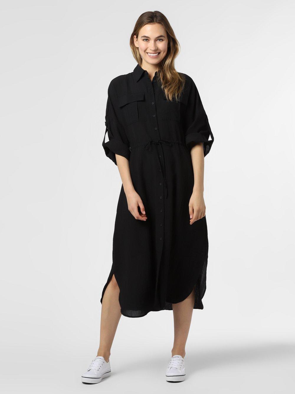 Minimum – Spodnie damskie – Spinosa, czarny Van Graaf 473310-0001-00380