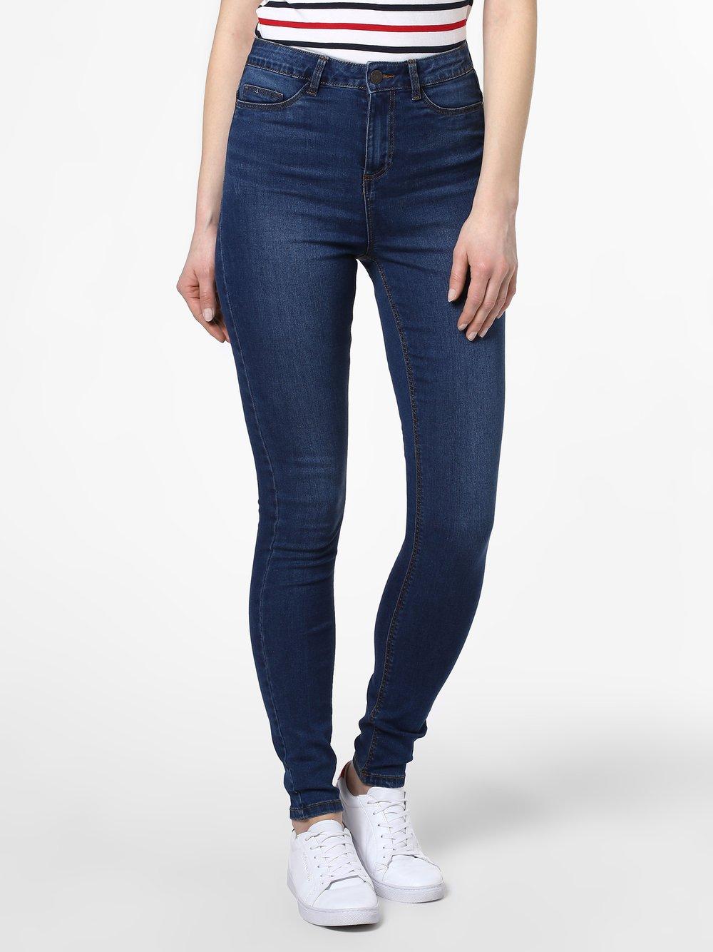 Noisy May - Jeansy damskie skinny fit – Nmcallie, niebieski