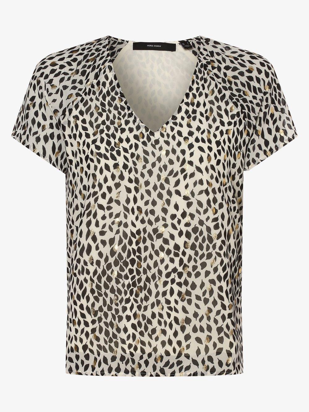 Vero Moda – Bluzka damska – VMPenny, beżowy Van Graaf 473380-0001-09920