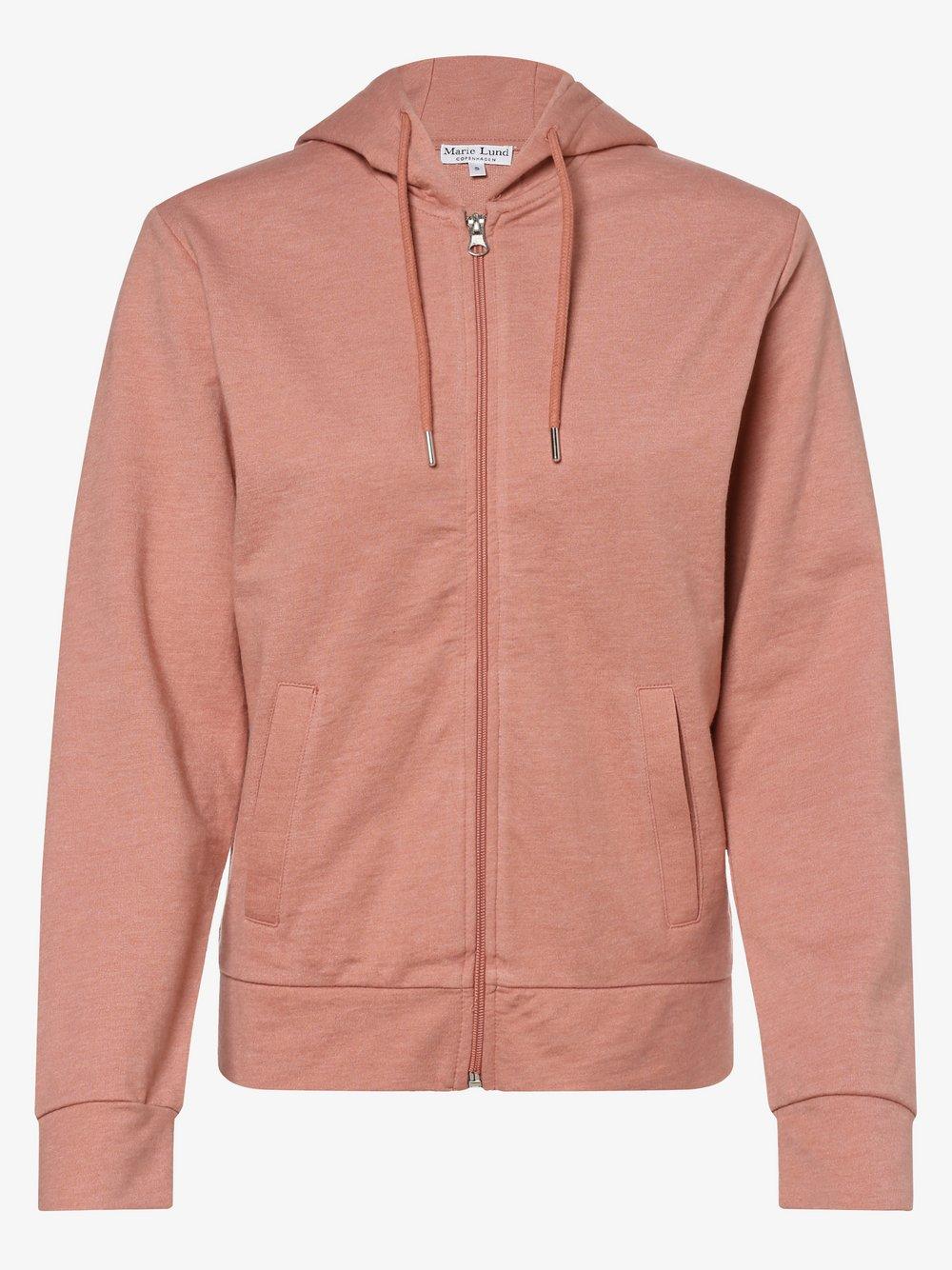 Marie Lund - Damska bluza rozpinana, różowy