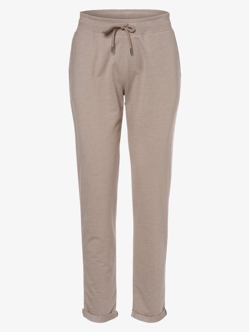 Marie Lund - Damskie spodnie dresowe, beżowy