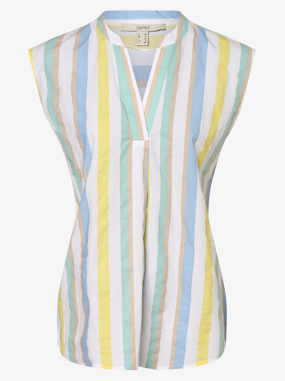 Esprit Casual – Damska bluzka bez rękawów, biały Van Graaf 473964-0001-00380