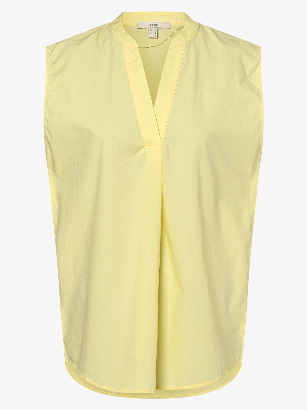 Esprit Casual - Damska bluzka bez rękawów, żółty