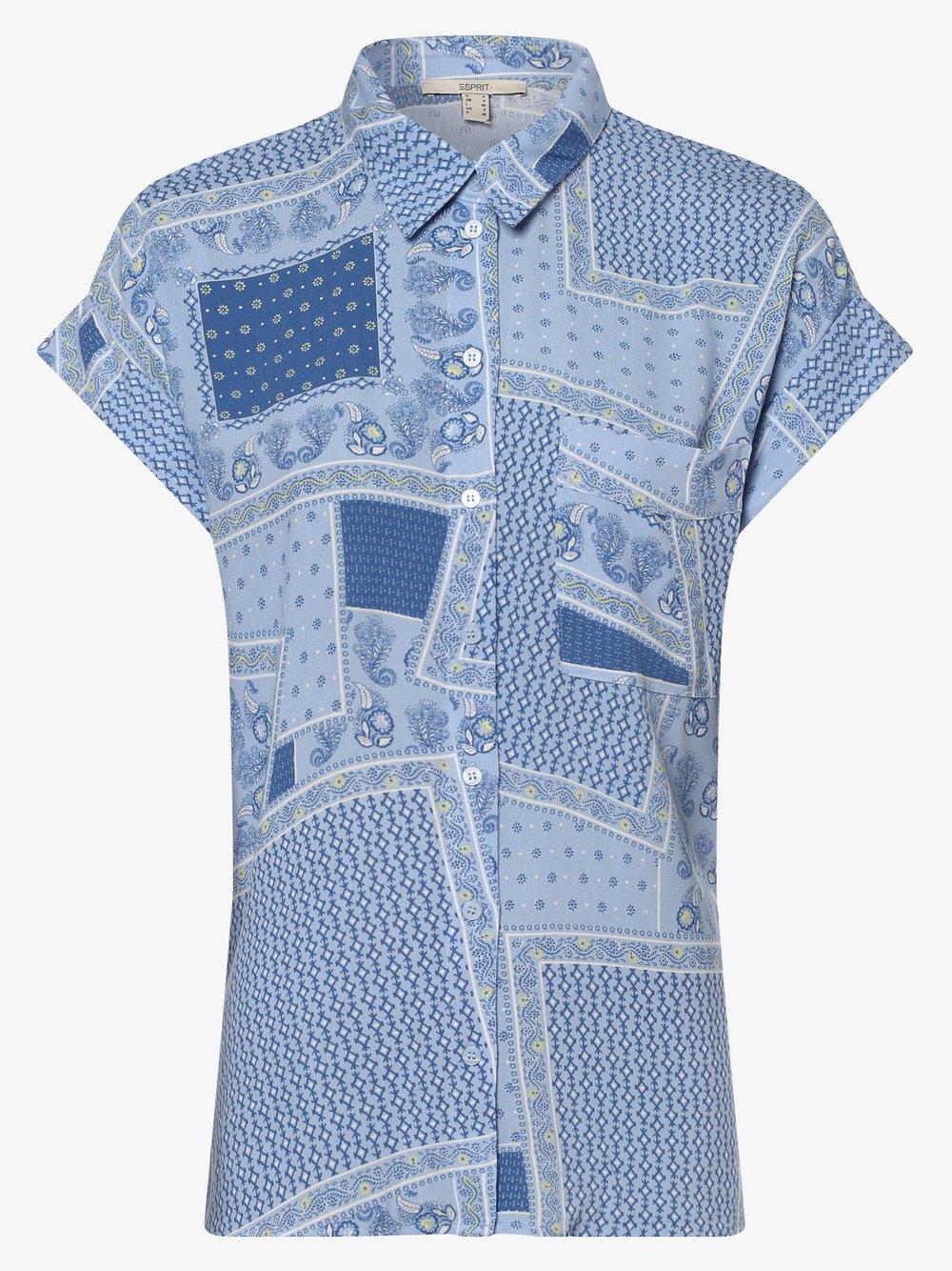 Esprit Casual – Bluzka damska, niebieski Van Graaf 473966-0001