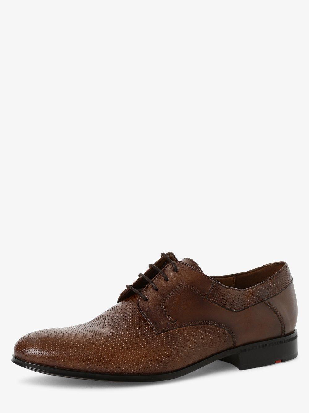 Lloyd – Męskie buty sznurowane ze skóry, beżowy Van Graaf 474429-0001-00090