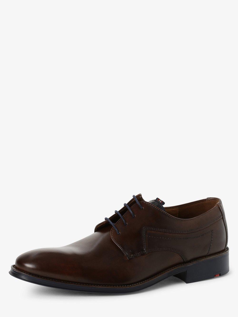 Lloyd – Męskie buty sznurowane ze skóry – Gasal, brązowy Van Graaf 474430-0001-00075