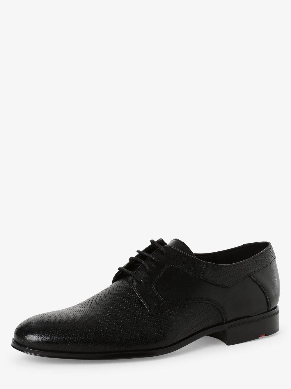 Lloyd – Męskie buty sznurowane ze skóry, czarny Van Graaf 474432-0001