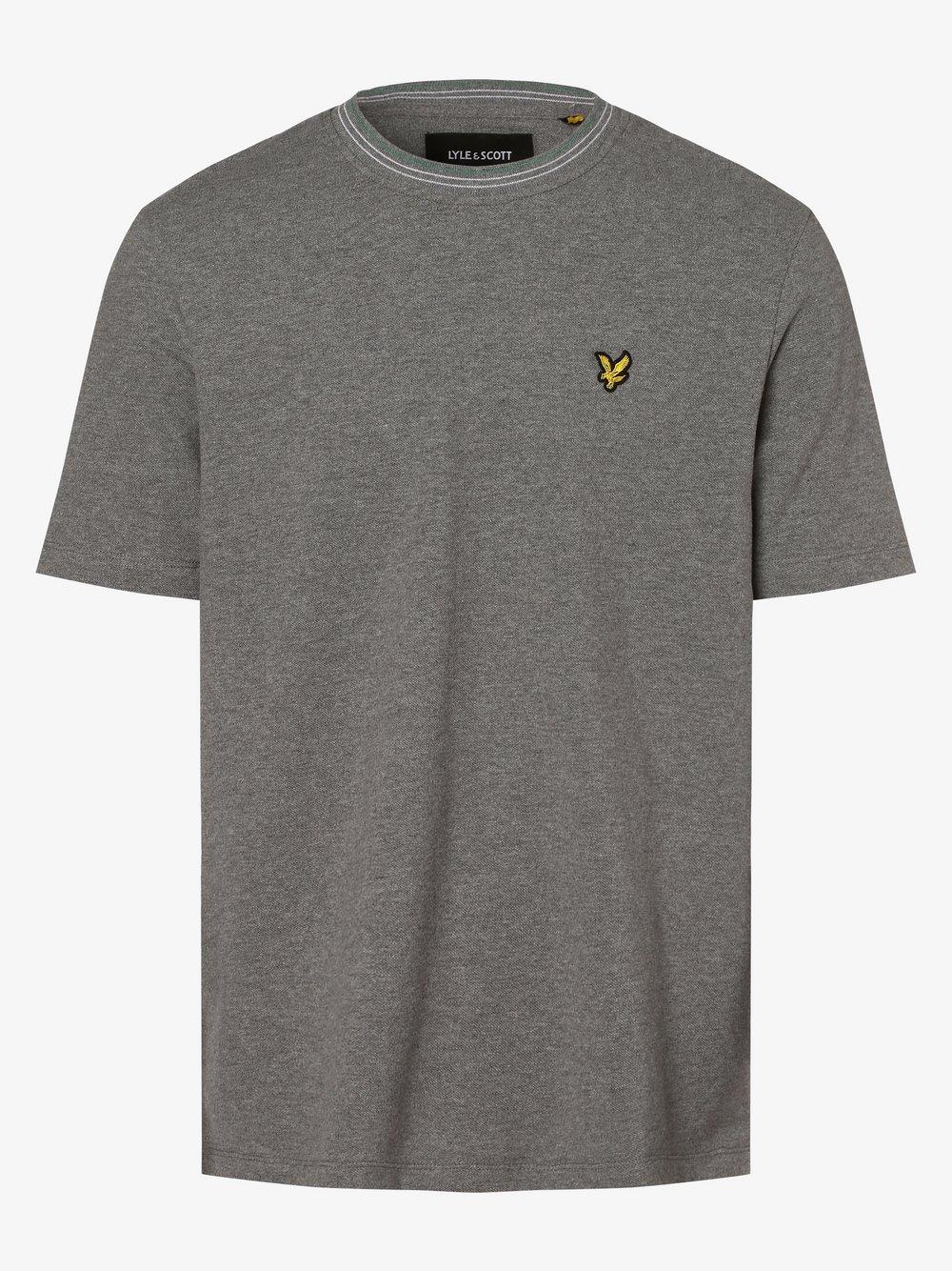 Lyle & Scott – T-shirt męski, szary Van Graaf 474677-0002-09920