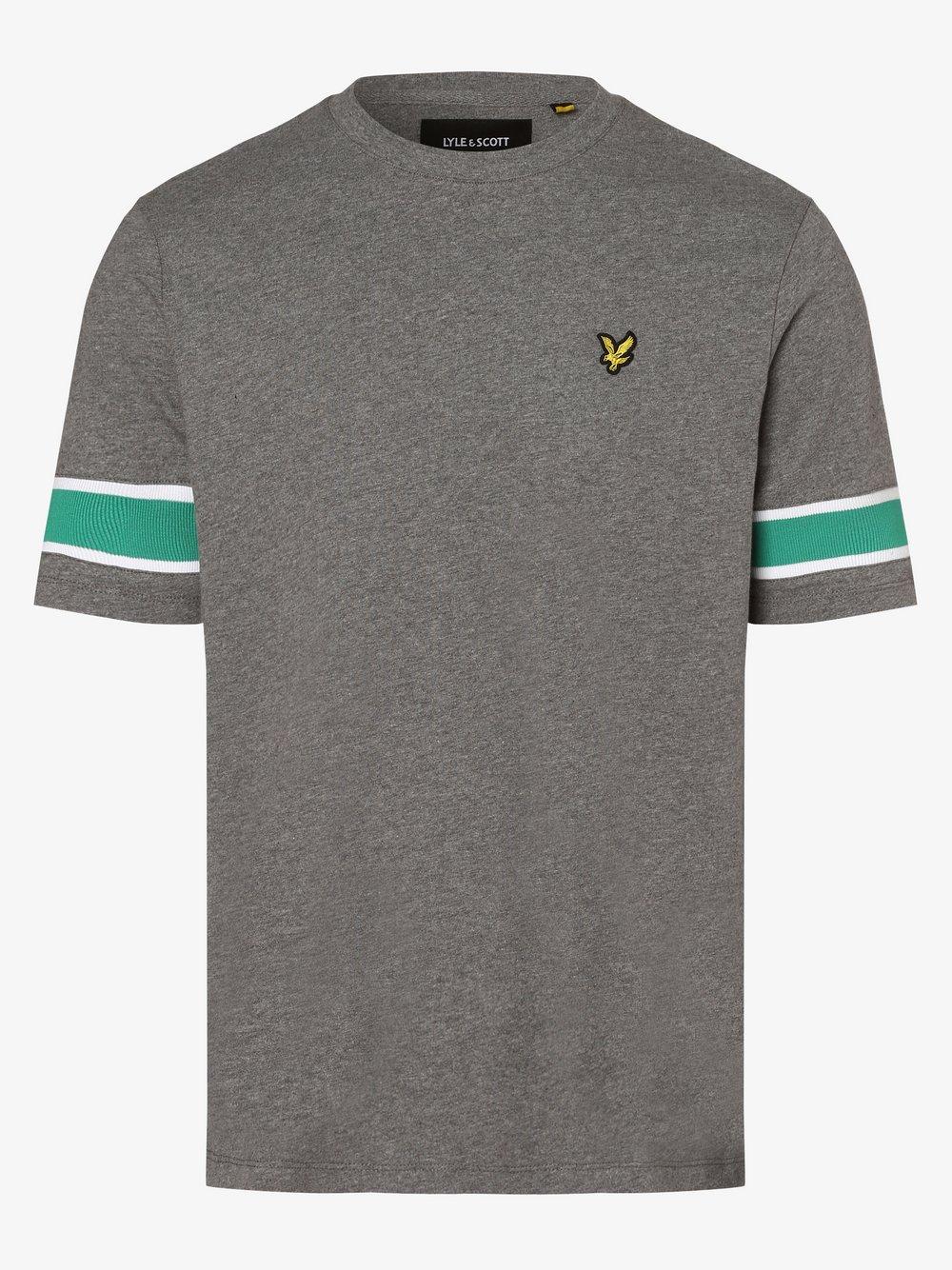 Lyle & Scott – T-shirt męski, szary Van Graaf 474680-0002