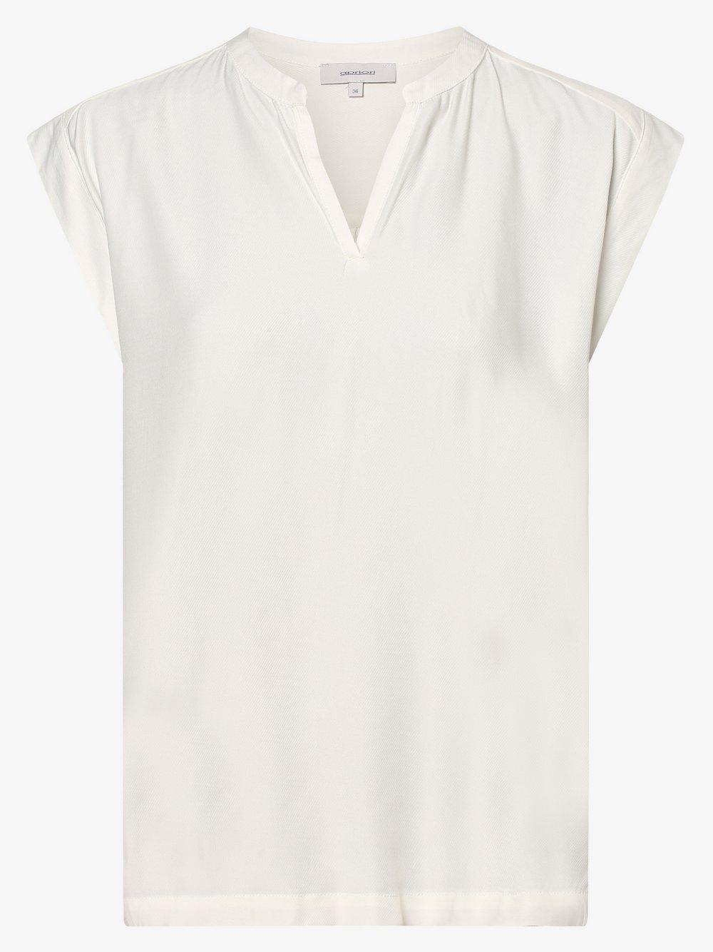 Apriori – Bluzka damska, biały Van Graaf 474736-0001-00380