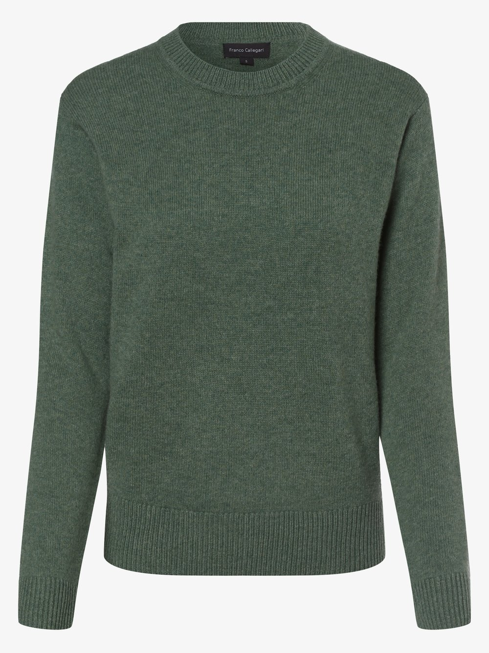 Franco Callegari - Damski sweter z wełny merino, niebieski