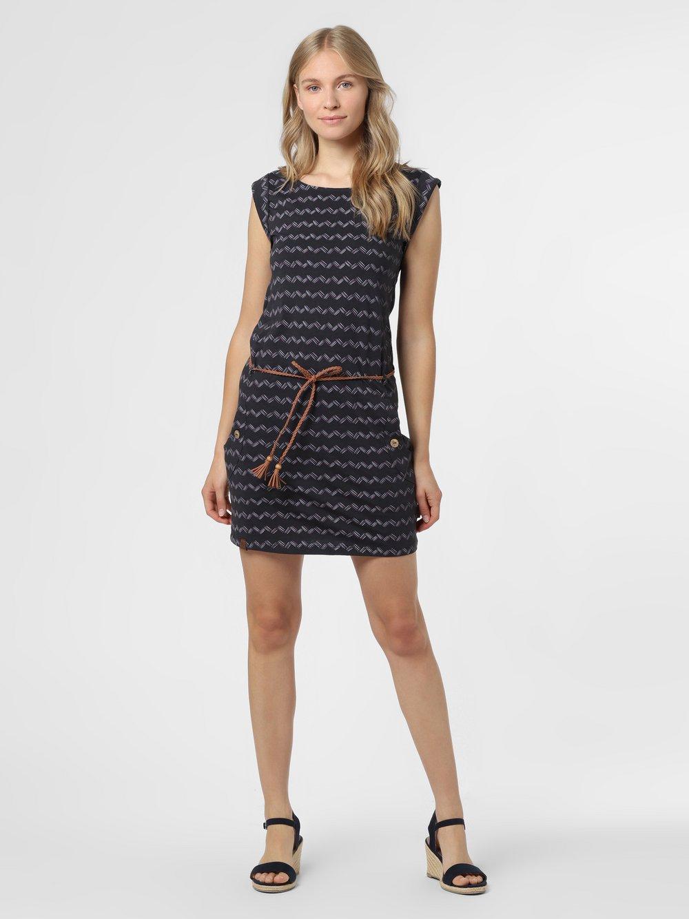 Ragwear – Sukienka damska – Tag Zig Zag, czarny Van Graaf 475045-0001-09920