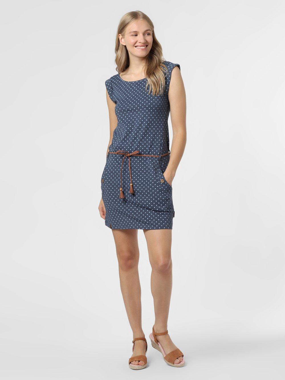 Ragwear – Sukienka damska – Tag Dots, niebieski Van Graaf 475048-0001-09920
